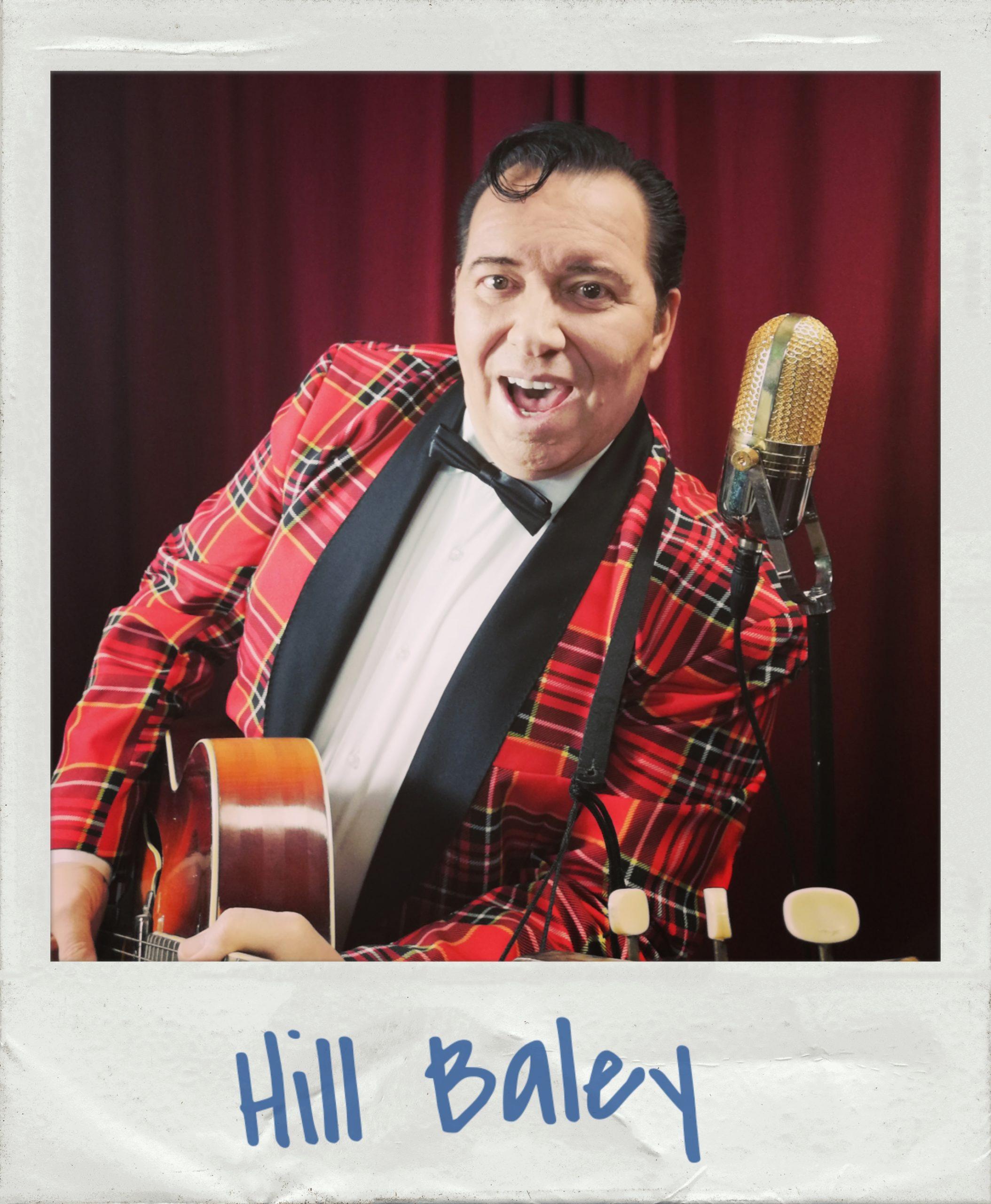 Hill Baley - Bill Haley Rock n Roll Tribute Show Profi-Sänger für 50s und 60s Event, Feier, Geburtstag, Hochzeit, Fifties Partys, Oldtimer-Treffen buchen. Bill Haley Double, Cover Band Sänger, Doppelgänger. Der besondere Liveact. Gehen Sie mit Hill Baley dem Bill Haley Tribute Artist auf eine Zeitreise in die wilden fünfziger Jahre. Hill Baleys Rock n Roll Show ist der Legende Bill Haley gewidmet! Der Vater des Rock n Roll veränderte mit seinem Sound die Musikgeschichte. Hill Baley singt die großen Hits wie: Rock around the clock, See you later aligator, Shake rattle and roll und viele mehr...Rockabilly - RockNroll - Rock n Roll - Oldies Sänger buchen - 50er Jahre Sänger engagieren - Original fifties Sound!